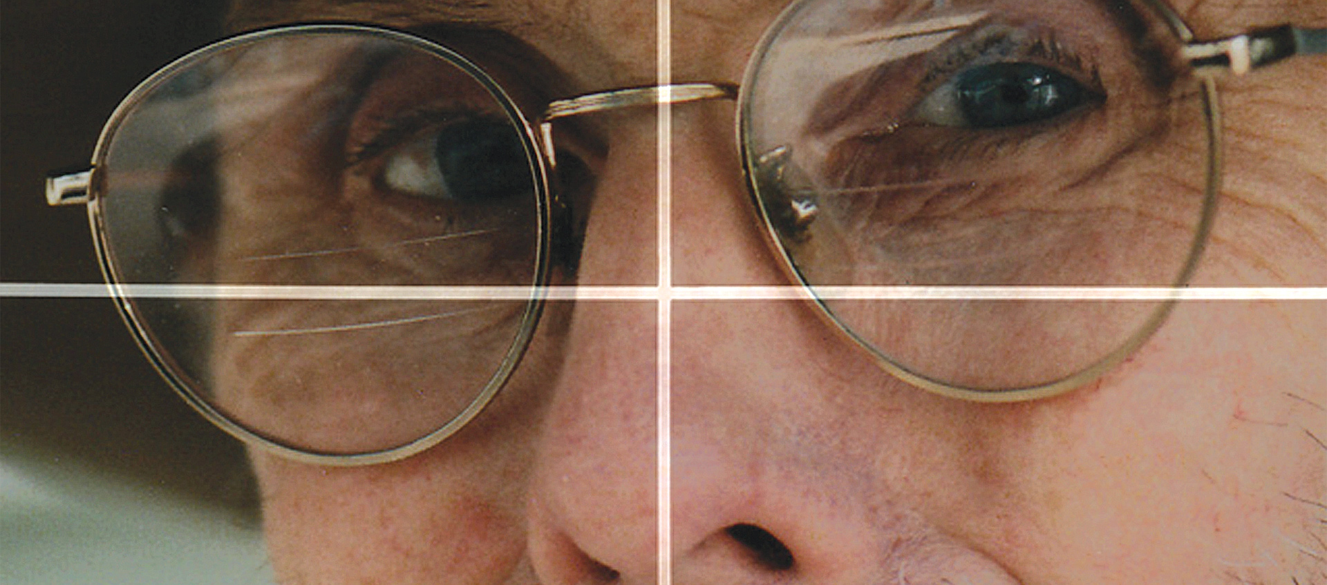 close up of man with glasses