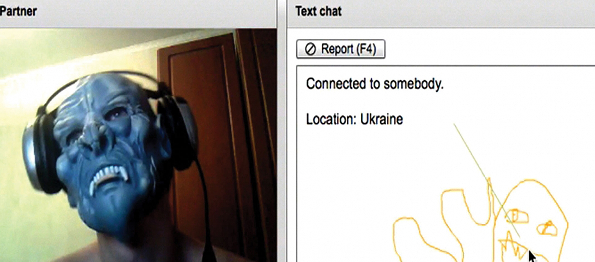 screenshot of video chat