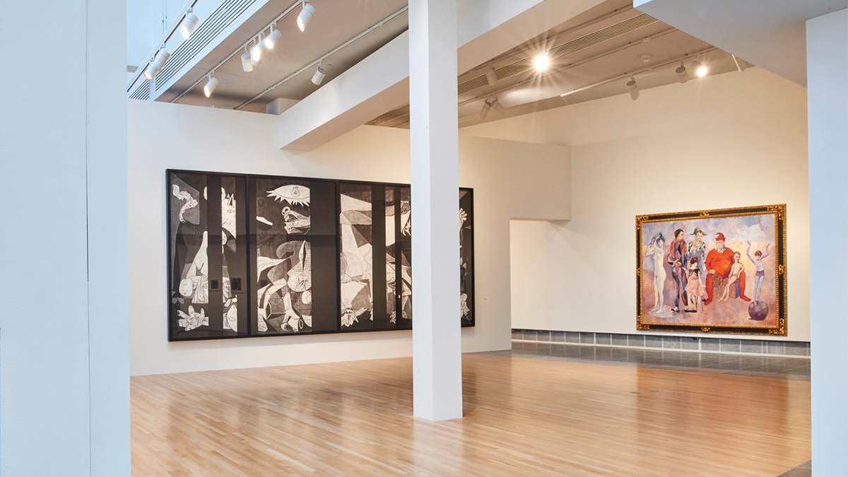 Installation view of several works in the Wexner Center galleries