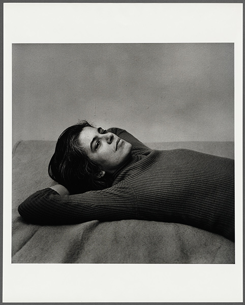 Photograph of Susan Sontag in repose
