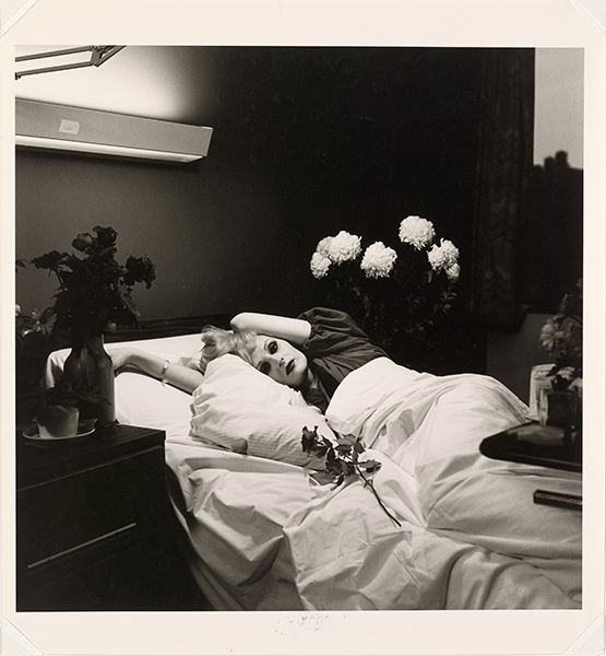 Photograph of Candy Darling in a hospital bed