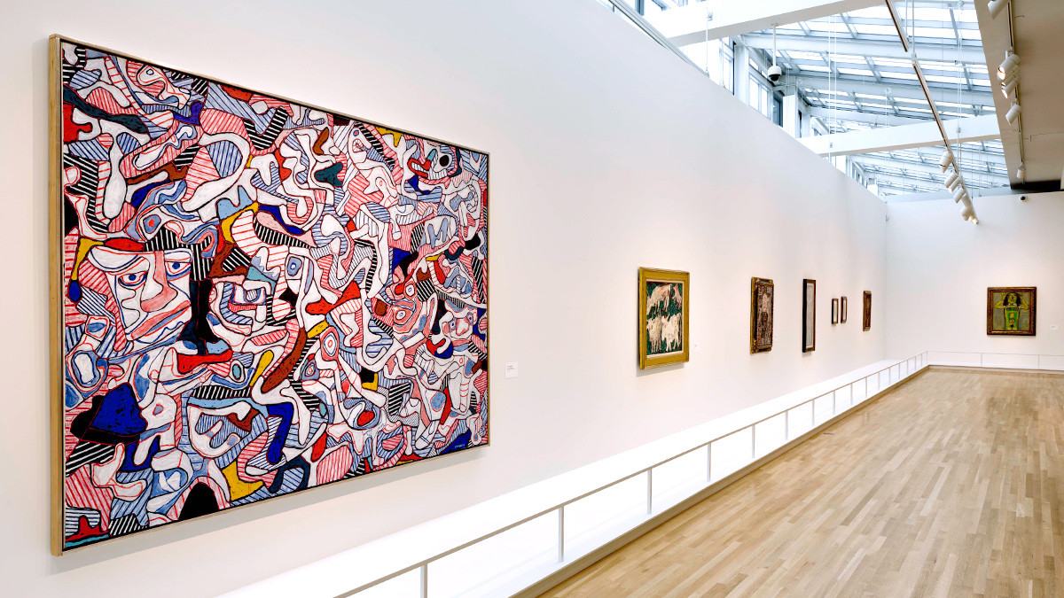 Installation view of the Wexner Center galleries