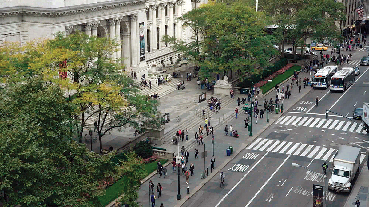 street view of a New York City library