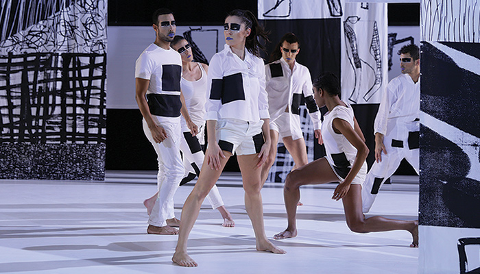 Still from the dance performance Tesseract by artist Charles Atlas and dancer-choreographers Rashaun Mitchell and Silas Riener