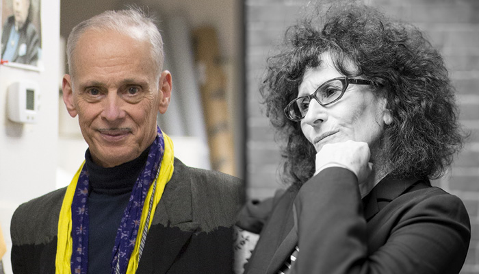 Photos of John Waters and Lynne Tillman