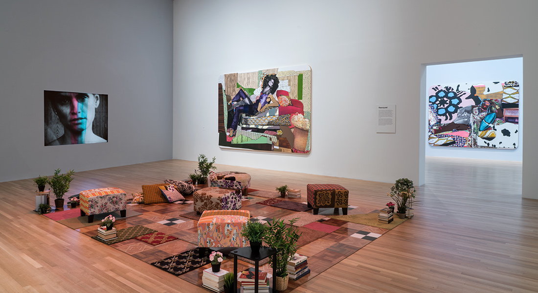 installation of Mickalene Thomas artworks in the Wexner Center galleries