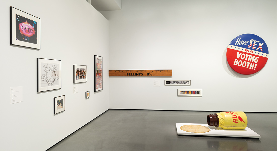 installation view of John Waters exhibition at Baltimore Museum of Art