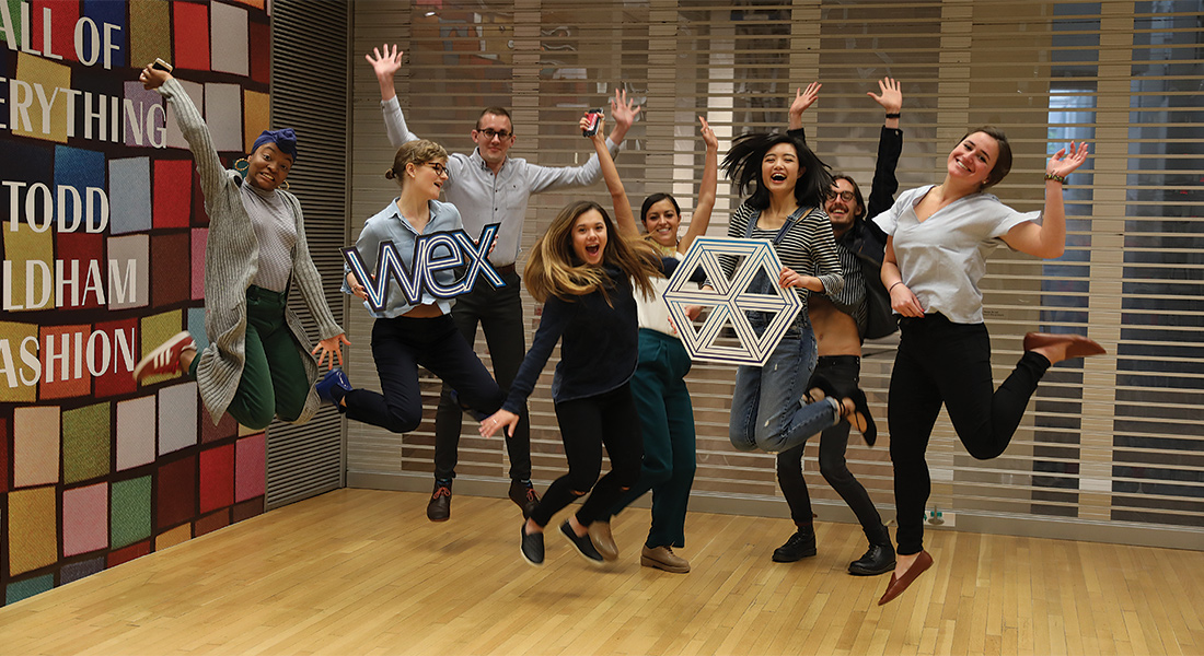Wex interns pose for a fun group photo.