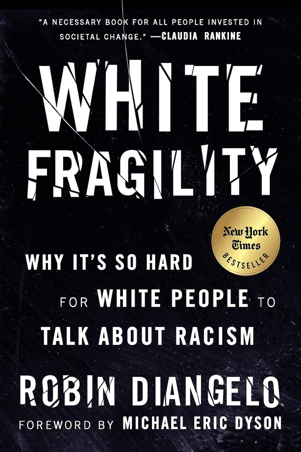 Cover art for the book White Fragility: Why it's So Hard for White People to Talk About Racism by Robin DiAngelo, part of list of inspiration sources for Mark Lomax II's 400: An Afrikan Epic