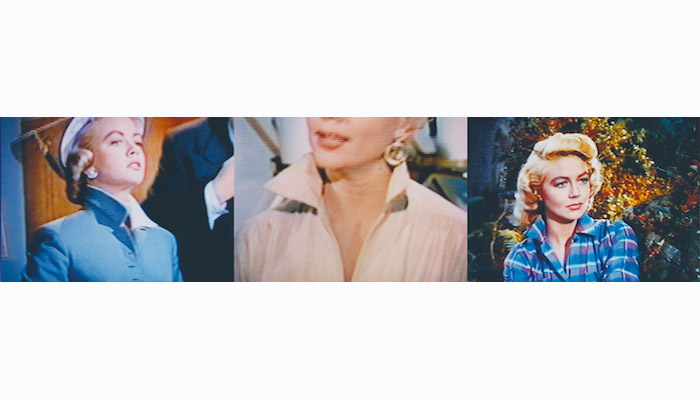 Detail from the photo collage Dorothy Malone's collar by John Waters