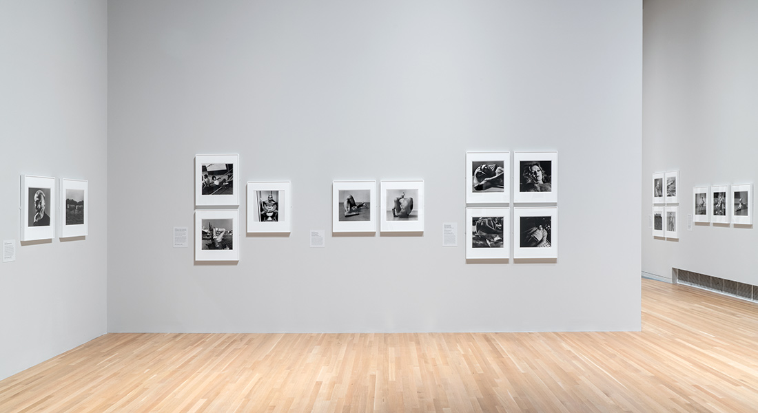 installation of Peter Hujar photographs at the Wex