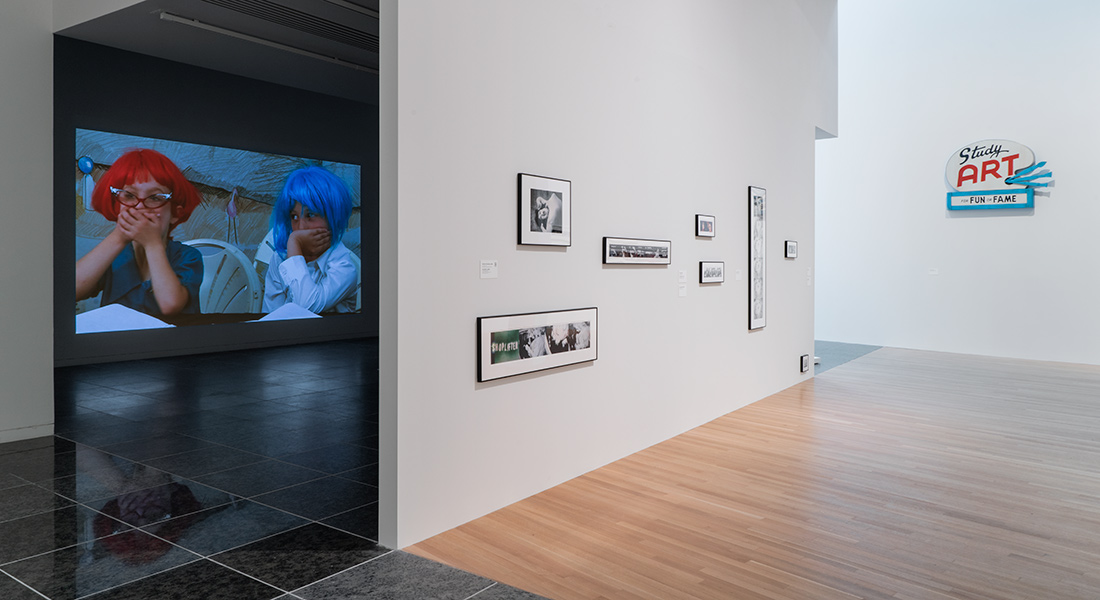 installation view of John Waters exhibition at the Wex