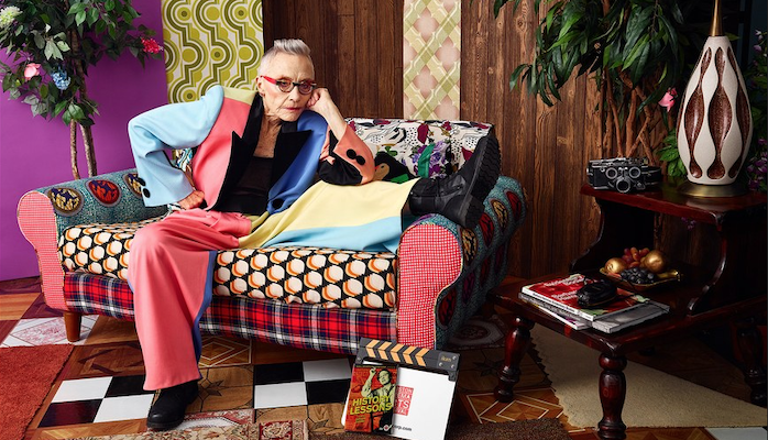 Photo of LGBT artist and filmmaker Barbara Hammer by Mickalene Thomas