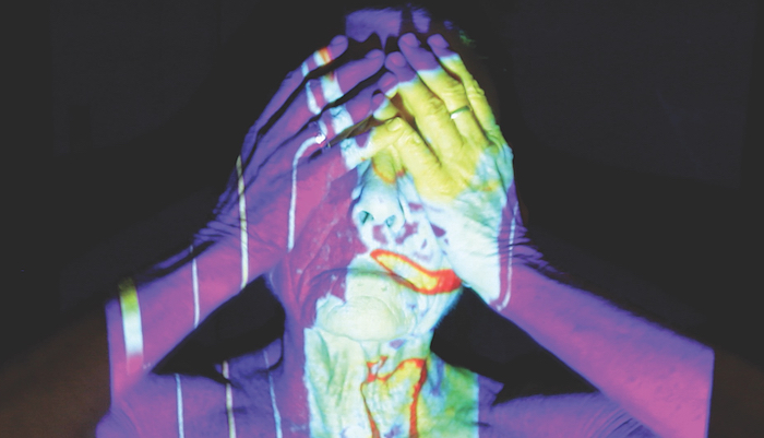 Barbara Hammer, still from Evidentiary Bodies, (detail), 2018 Three-channel video installation Dimensions variable; running time:  9 mins. 30 secs. Courtesy of the artist, COMPANY, New York, and KOW, Berlin © Barbara Hammer Studio