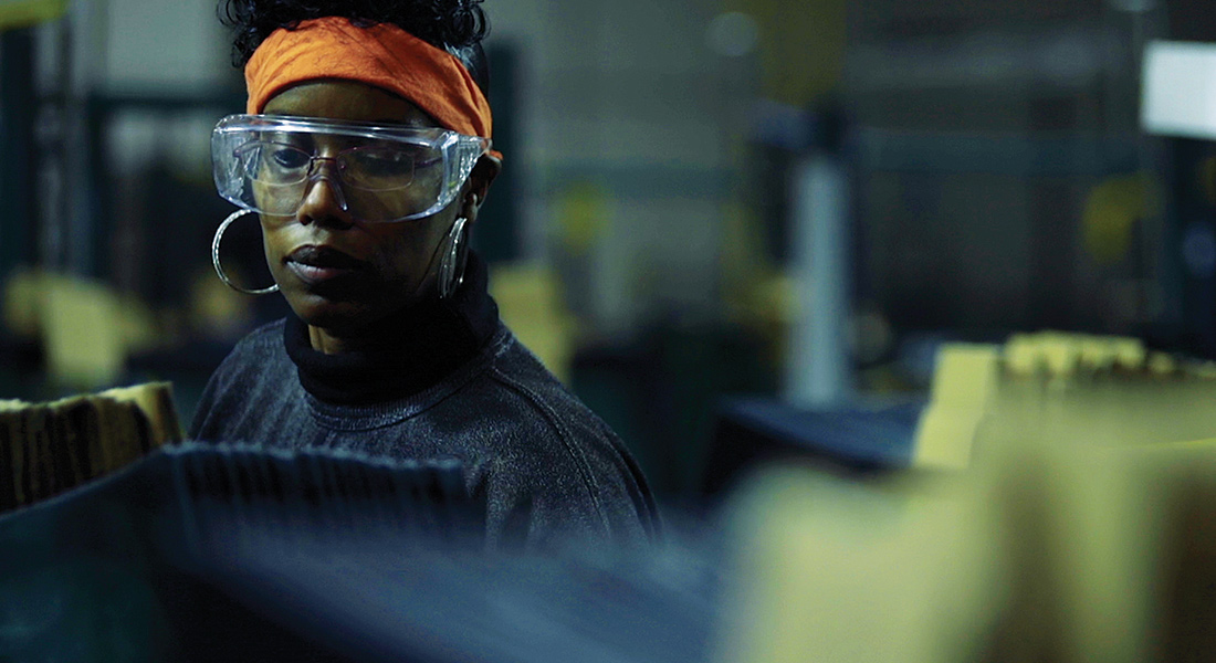 Image of worker from American Factory