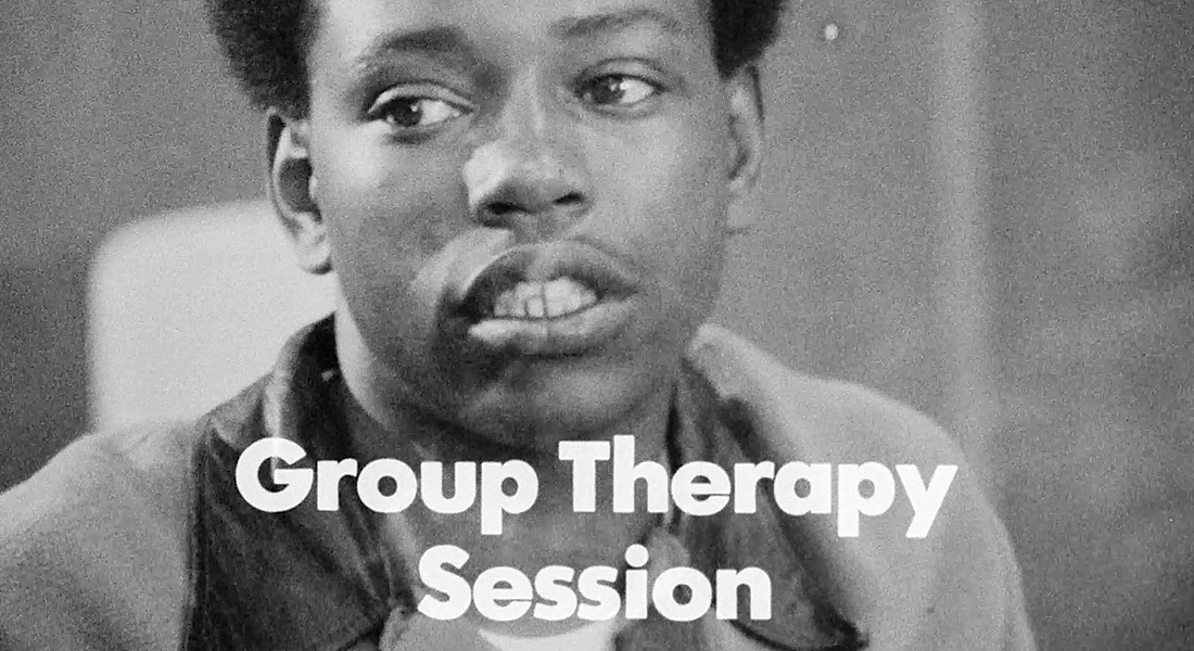 Image with text Group Therapy Session from Methadone: An American Way of Dealing