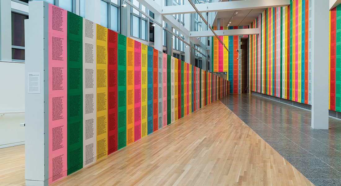 Installation view of Jenny Holzer at the Wexner Center for the Arts