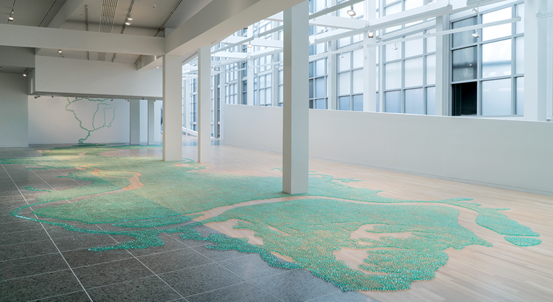 Installation view of Maya Lin at the Wexner Center for the Arts