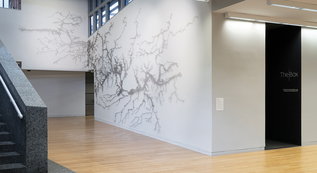 Installation view of Maya Lin in the Wexner Center for the Arts