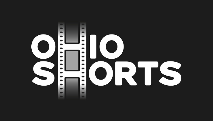 White logo for the Wexner Center for the Arts' Ohio Shorts program on black background