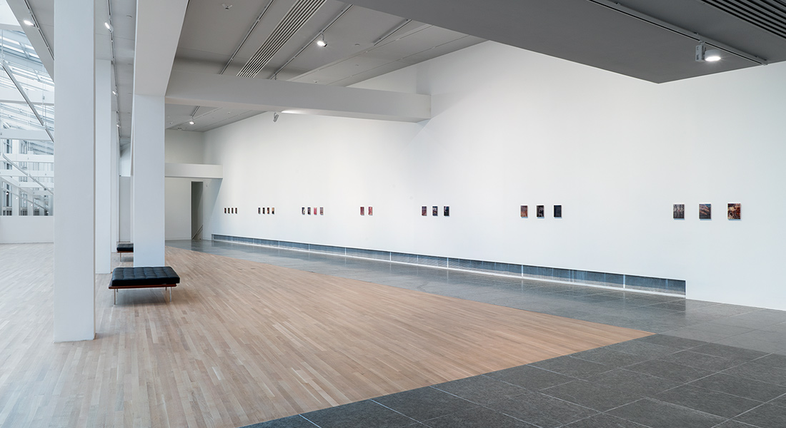Installation view of Sadie Benning: Pain Thing at the Wexner Center for the Arts