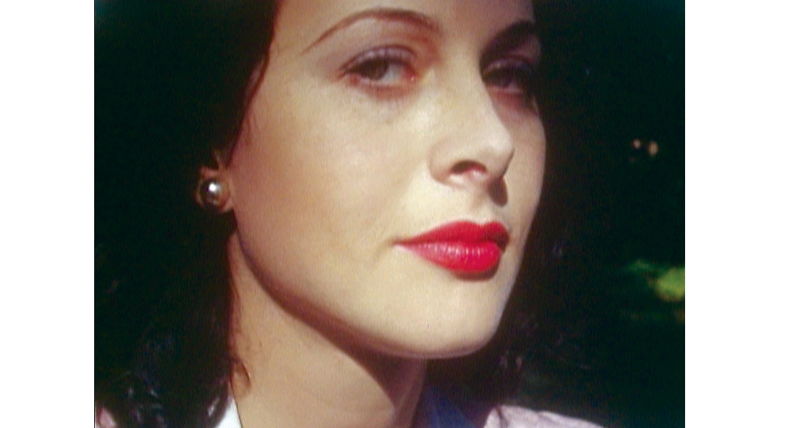 Hedy Lamarr looking at the camera