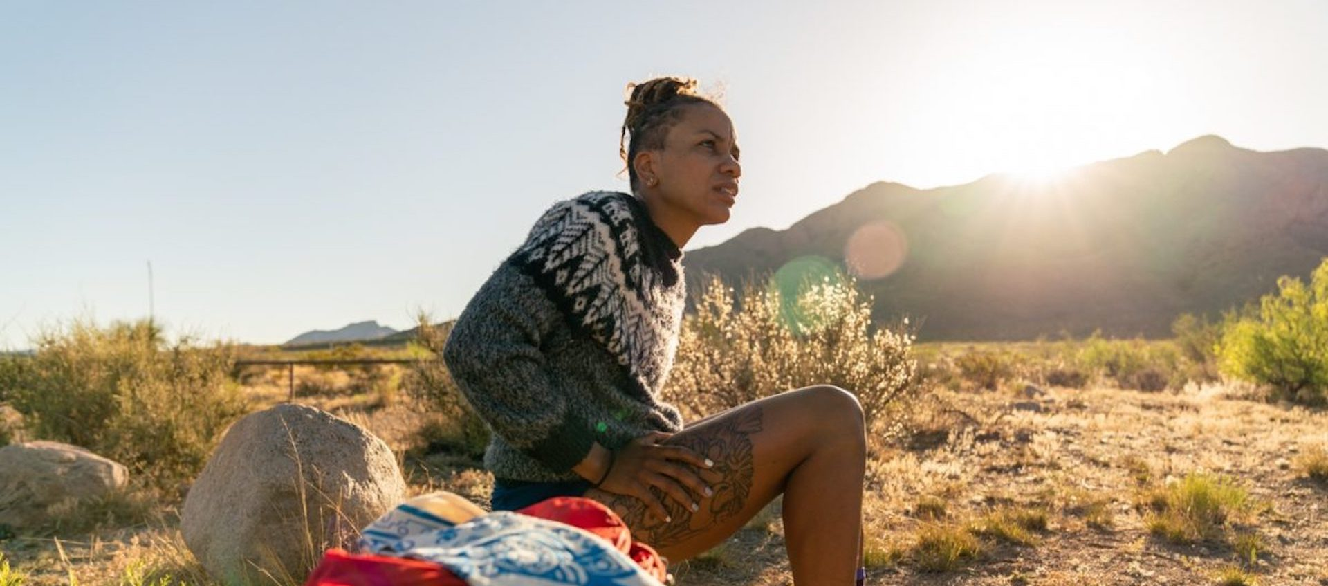 Runner and advocate Faith E. Briggs in Chelsea Jolly and Whitney Hassett's 2019 short film This Land