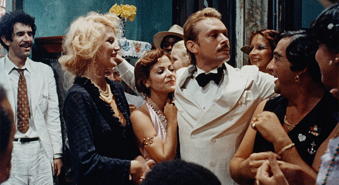 A still from Dona Flor showing a party scene.