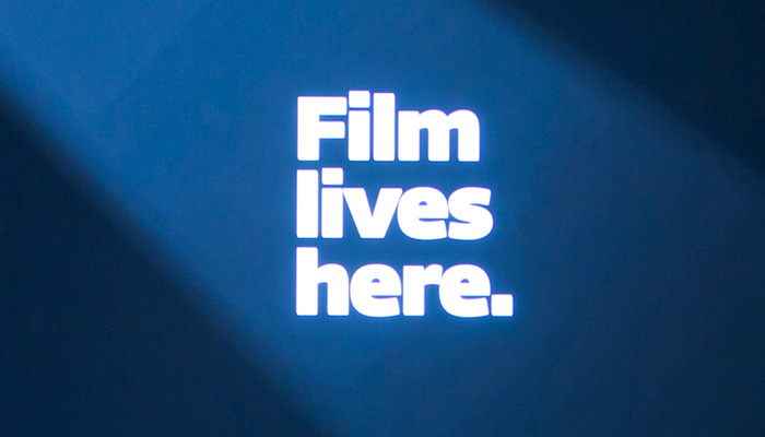 a spotlight on the words film lives here