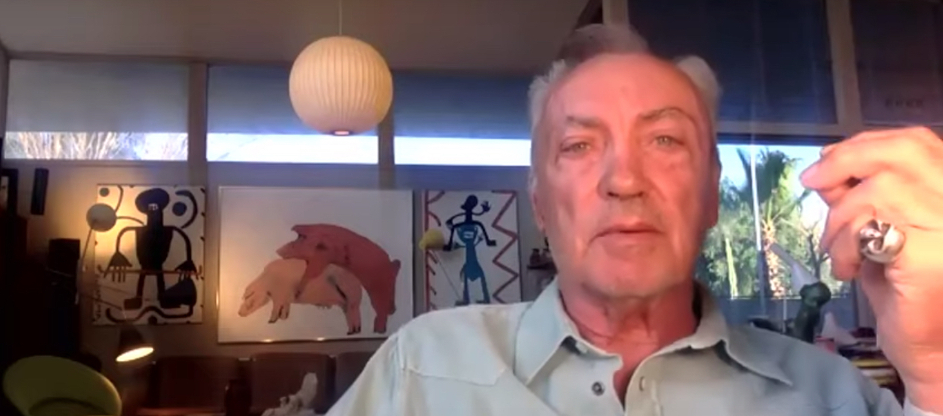 Actor Udo Kier speaking from his home about the film Bacurau