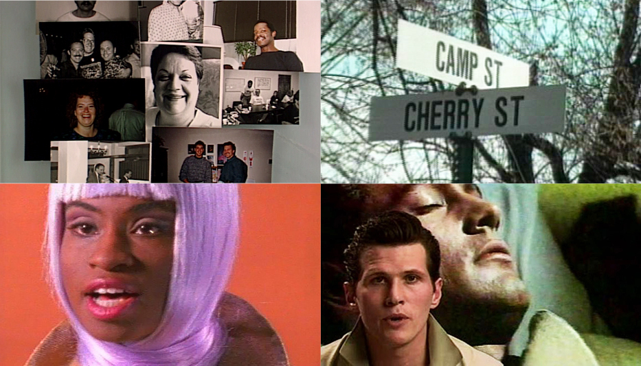 A collage of stills from the films featured in After Stonewall
