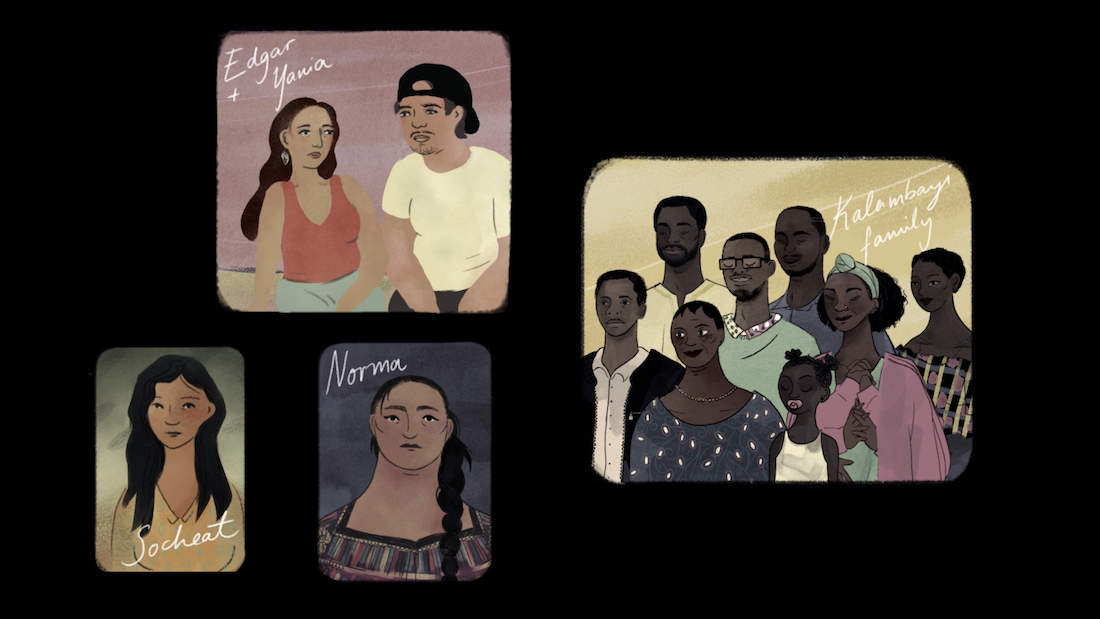 Animated sequence in Michelle Steinberg's 2020 documentary A Place to Breathe