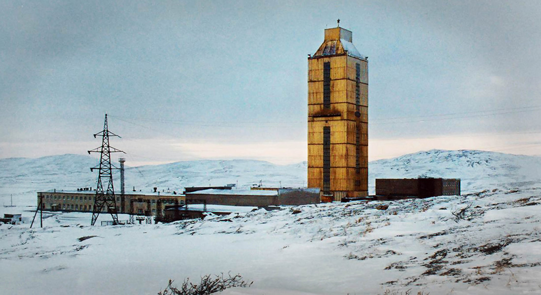 An exterior shot of the USSR's Kola Superdeep Borehole in the short The Deepest Hole