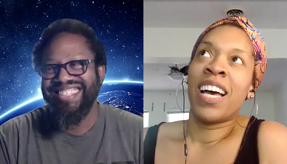 Dr. Mark Lomax, II and Mosaic Education Network founder Melissa Crum talk via Zoom
