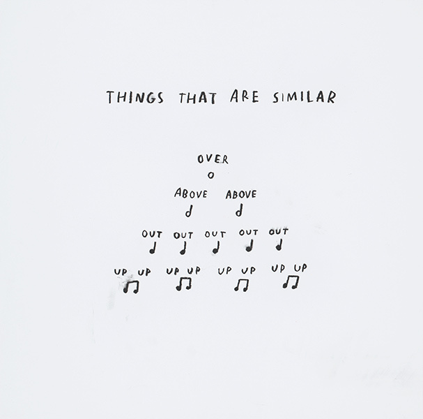 "Image of text called ""Things that are similar"""