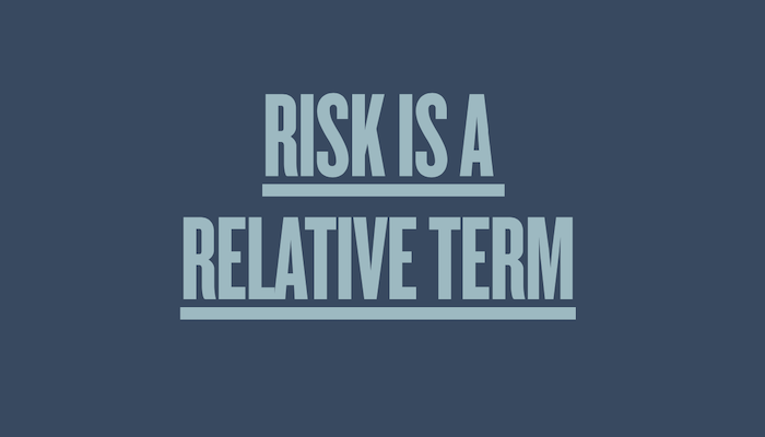 cover graphic for the Wexner Center & Ohio State Dance publication Risk is a Relative Term