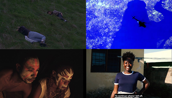 A collage of stills from the film program SEQUENCE 01