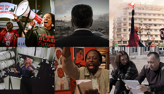 A collage of six images from films featured in this series.