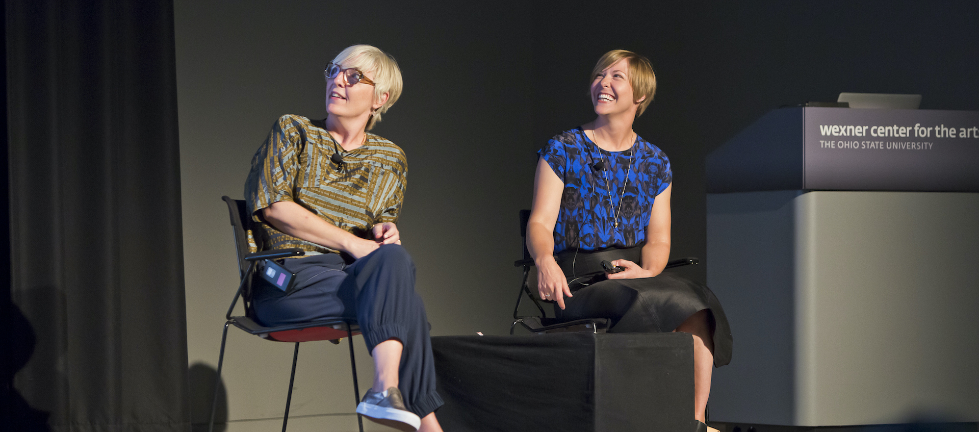 Helen Molesworth and Ruth Erickson at the Wexner Center for the Arts