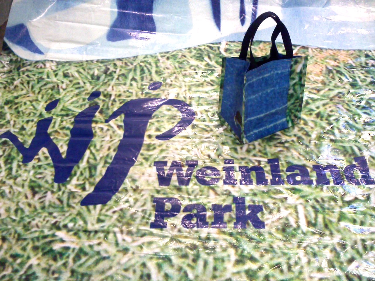 Completed bag from the Weinland Park Billboard