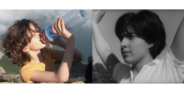 Side-by-side images of individual young women from the respective documentaries Lettre à Ma Soeur and Elle